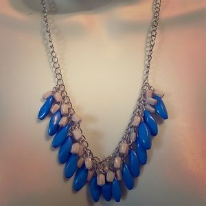 Blue and Gray Necklace